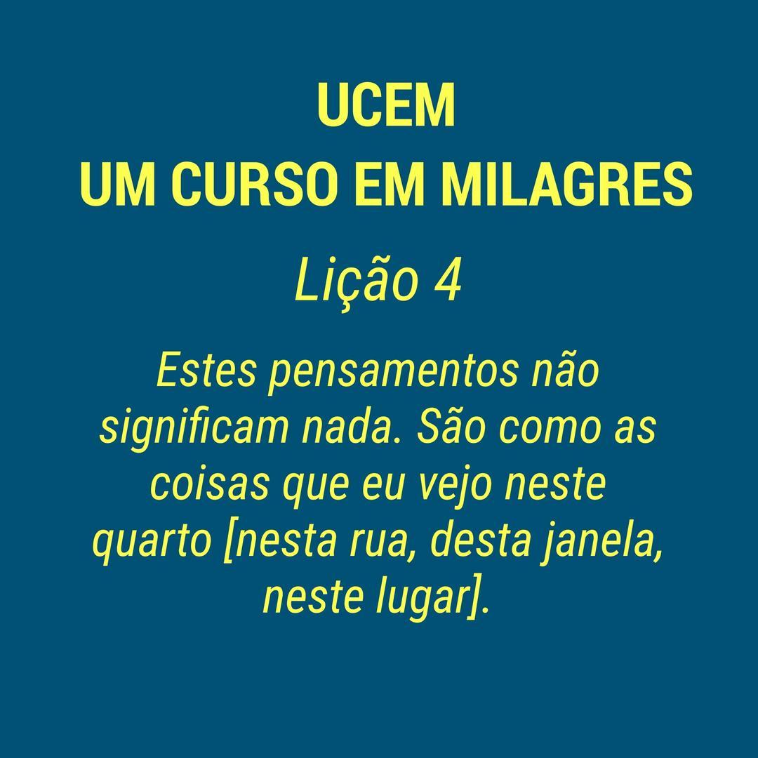 UCEM - LIÇÃO 4