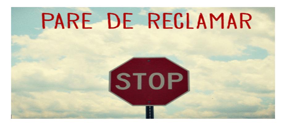 PARE DE (RE)CLAMAR!!!