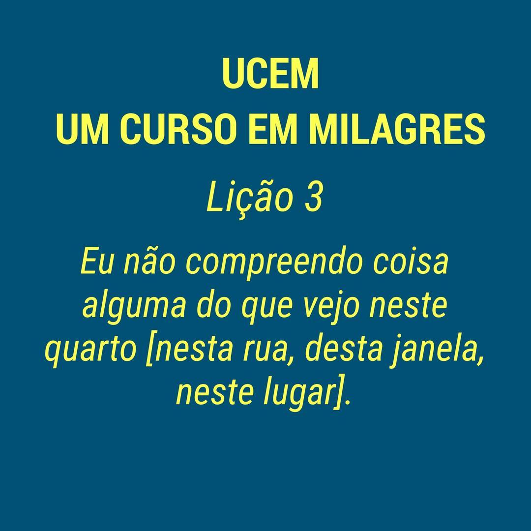 UCEM - LIÇÃO 3