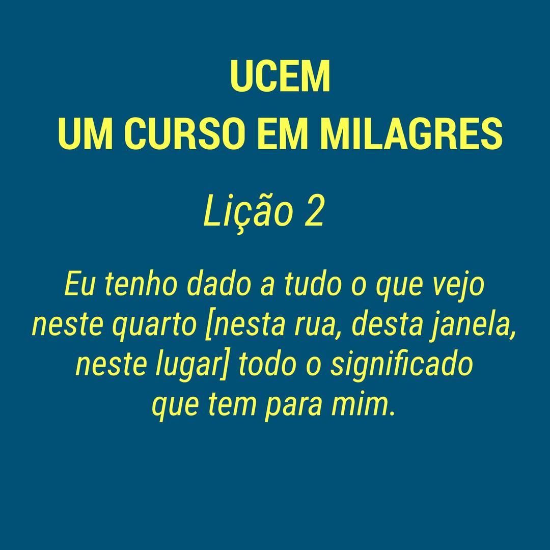 UCEM - LIÇÃO 2
