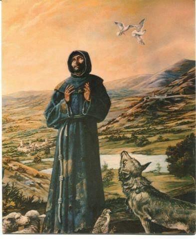 Francisco e o Irmão Lobo de Gúbio