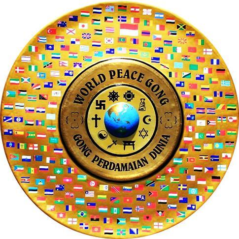 A palavra Perdamaian expressa: encontre o seu lugar no mundo e aja de acordo com ele, isto é paz